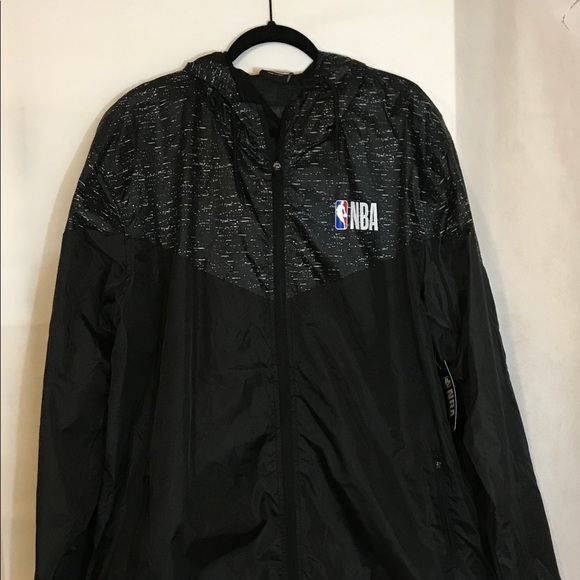timeless design ec7c3 1709f Black NBA Jacket with Hood Size XXL